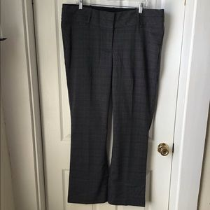 Maurice's plaid dress pants Size 18 Reg black/gray